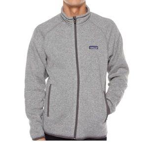 Men's Grey Patagonia Zip Up Sweater